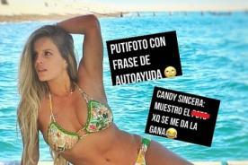 Esto Es Guerra: Modelo 'trapea' el piso con Alejandra Baigorria por foto en la que muestra sus 'carnes'