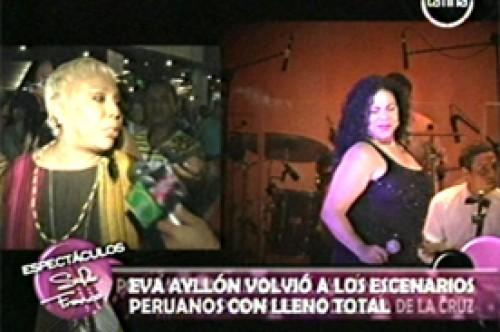 Lucía de la Cruz se 'jaraneó' durante concierto de Eva Ayllón