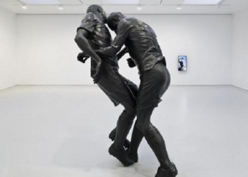 Cabezazo de Zidane a Materazzi hecho escultura