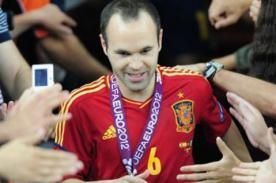 Iniesta desmintió donación de premio ganado en la Euro 2012 - Video
