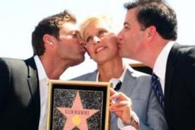 Ellen Degeneres recibe la estrella en el Paseo de la Fama