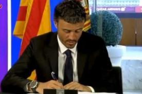 Luis Enrique fue presentado como nuevo entrenador de Barcelona