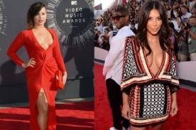 MTV VMA 2014: Kim Kardashian y Demi Lovato las más escotadas [Fotos]