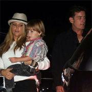 Charlie Sheen celebró su cumpleaños 46 junto a su ex esposa