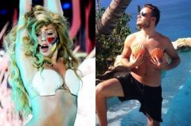 Lady Gaga elogia a Liam Payne por su foto usando conchas como 'bikini'