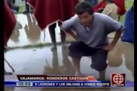 Ronderos de Cajamarca obligaron a delincuentes a comer rocoto como castigo - VIDEO