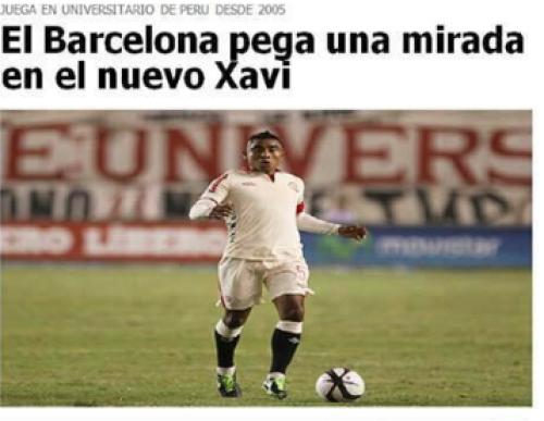 Fútbol Peruano: ¿Toñito Gonzales jugaría con Messi en Barcelona?