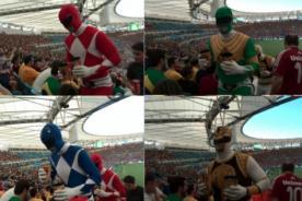 Lo que no viste del Mundial: Power Rangers vieron el Bélgica vs Argelia