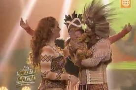 El Gran Show: Lourdes Sacín y  Andy V presentan a su hijo en TV - VIDEO