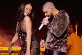 Rihanna y Drake se dieron un beso en pleno concierto