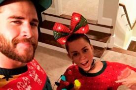 ¡Miley Cyrus pasa Navidad junto a Liam Hemsworth!