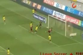 Jugador colombiano marca un 'golazo' de escorpión (Video)
