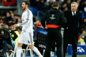 Real Madrid: Carlo Ancelotti increpó a Sergio Ramos por su expulsión
