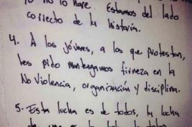 Venezuela: Lee la carta completa que escribió Leopoldo López desde prisión