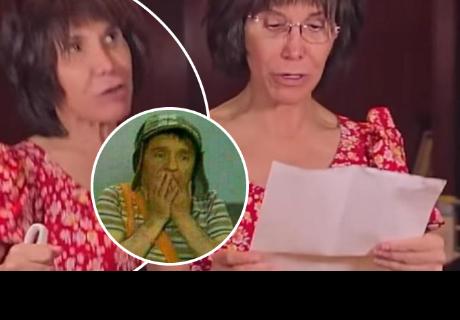 La 'Chimoltrufia' llora al leer poema escrito por 'Chespirito'