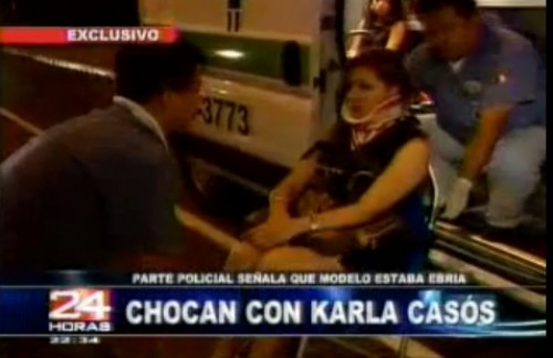 Video: Karla Casós sufrió accidente automovilístico