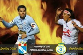 Sporting Cristal vs Real Garcilaso: Alineaciones confirmadas - Play Off 2012