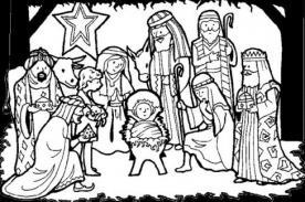 Navidad 2012: Imágenes del Nacimiento de Jesús para colorear