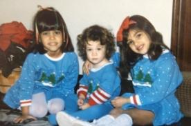 Kim Kardashian comparte tierna fotografía navideña de su niñez
