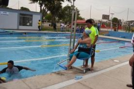 Se construye la primera piscina para discapacitados en Lima