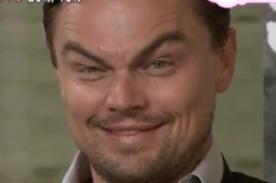Vídeo - Leonardo Dicaprio imita las cejas de Jack Nicholson