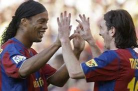 Lionel Messi: Ronaldinho fue el culpable del cambio en Barcelona