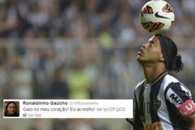 Ronaldinho manda mensaje a hinchas del Atlético Mineiro antes de la final
