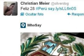 Christian Meier y su saludo por Fiestas Patrias en Twitter - 28 de julio