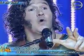 ¿Se la lleva fácil? Julio Andrade fue Joe Cocker en Tu Cara Me Suena - VIDEO