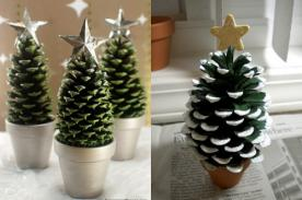 Adornos Navideños Ecológicos: Cómo hacer un árbol de Navidad con piñas