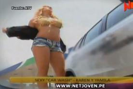 Combate: Karen y Yamila derrochan sensualidad en sexy Car Wash - Video