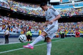 James Rodríguez y el noble gesto al ser presentado en el Real Madrid [Video]