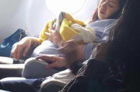 Bebé nace en pleno vuelo y recibe regalo de por vida