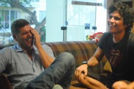 Foto: Pedro Suárez-Vértiz y Christian Meier se volvieron a reunir