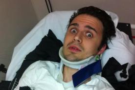 Ex 'American Idol' terminó con fractura tras accidente automovilístico