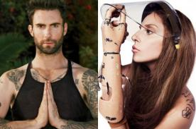 Adam Levine arremete contra Lady Gaga en Twitter