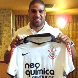 Fútbol brasileño: Corinthinas oficializó fichaje de Adriano