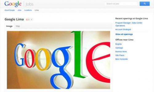 Google ofrece dos vacantes de trabajo en Lima