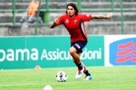 Juan Vargas supera su lesión y se entrena nuevamente con el Génova