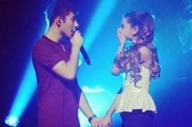 Video: Nathan Sykes le cantó a Ariana Grande en concierto de The Wanted