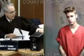 Fotos: Justin Bieber siendo juzgado por conducir ebrio y drogado