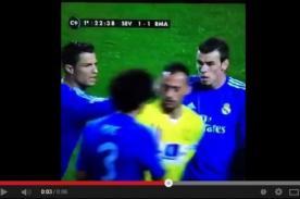 Liga BBVA: Cristiano Ronaldo y el golpe que le metió al arquero del Sevilla - VIDEO