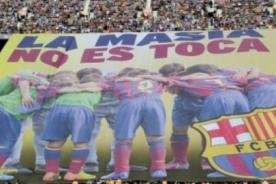 Hinchas del FC Barcelona a la FIFA: 'La Masía no se toca' - VIDEO