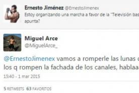Ernesto Jiménez y Miguel Arce proponen 'marcha a favor de la TV basura'