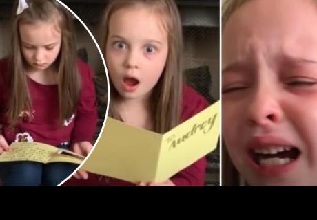 Niña recibe 'mensaje' de su futuro hermano y su reacción conmueve a todos en la red