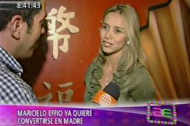 Maricielo Effio: Belén Estévez en un tema sin interés para mí