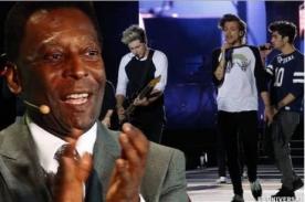 Pelé se confesó fanático de One Direction durante su concierto en Sao Paulo - VIDEO