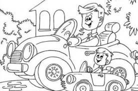 Simpáticos dibujos para colorear y regalar por el Día del Padre