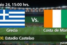 Grecia vs. Costa de Marfil DirecTV En Vivo – Mundial Brasil 2014 (Hora Peruana)