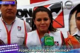 Florcita asegura que la gente la apoyará si incursiona en política
